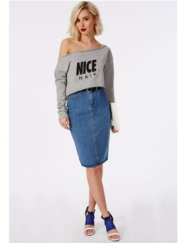 slogan-nice-hair-raw-edge-sweater by missguided
