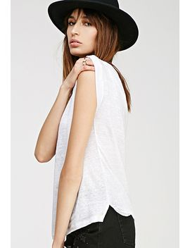 cuffed-sleeve-linen-tee by forever-21