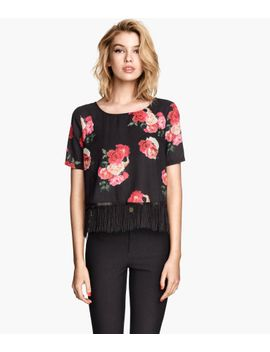 fringe-trimmed-top by h&m
