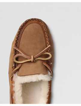 mens-shearling-canoe-moc-slippers by lands-end
