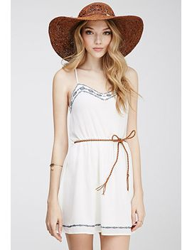 embroidered-chiffon-cami-dress by forever-21