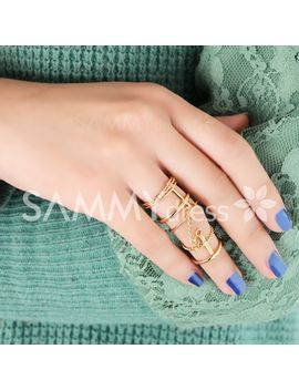 2pcs-chic-womens-solid-color-openwork-rings by sammy-dress