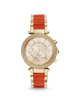 parker-gold-tone-acetate-watch by michael-kors