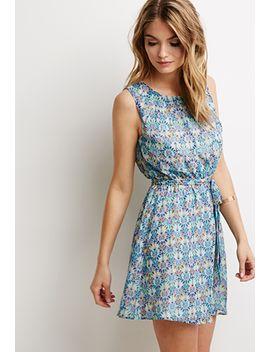 fan-print-sun-dress by forever-21