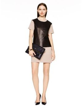 leather-panel-shift-dress by kate-spade