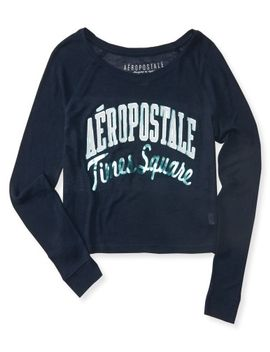 long-sleeve-times-square-knit-boxy-crop-tee by aeropostale