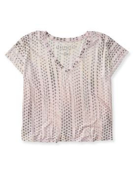 stars-crop-boxy-v-neck-tee by aeropostale