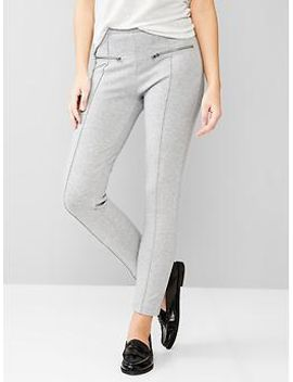 zip-ponte-pants by gap