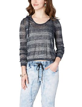 blue-metallic-striped-hooded-pullover by rue21
