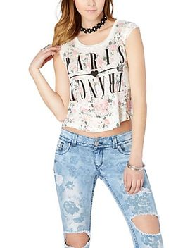 floral-paris-crop-top by rue21