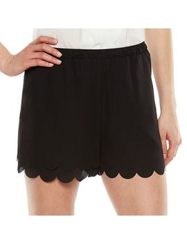 lc-lauren-conrad-scalloped-edge-crepe-shorts---womens by kohls