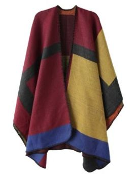 multicolor-poncho-cape-coat by choies