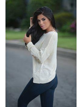 sequin-sweater---cream by fashion-nova