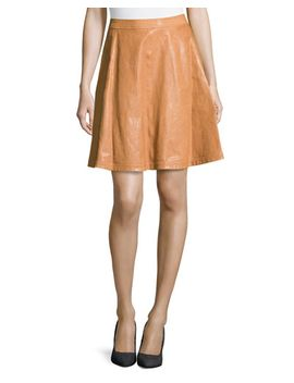 riley-lambskin-leather-skirt,-cognac by diane-von-furstenberg