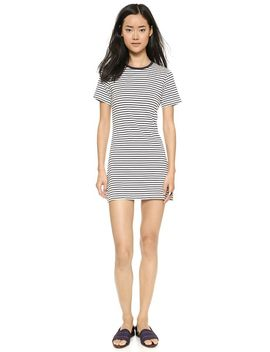 classic-tee-stripe-cherry-r-dress by theory