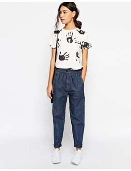 ymc-pinstipe-relaxed-trousers by ymc