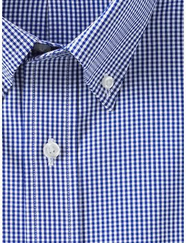 mens-tailored-fit-pattern-supima-no-iron-pinpoint-buttondown-collar by lands-end