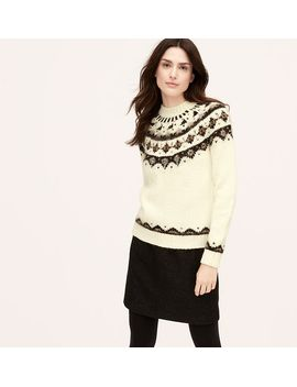 embellished-fair-isle-sweater by loft