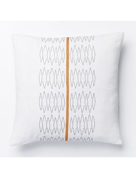 woven-zigzag-stripe-pillow-cover---stone-white by west-elm