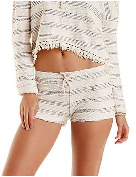 striped-french-terry-shorts by charlotte-russe
