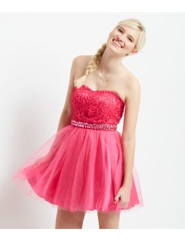 rose-jeweled-strapless-dress by aeropostale