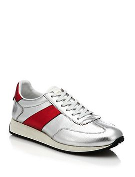 metallic-leather-sneakers by saint-laurent