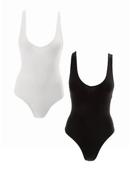 cotton-spandex-tank-bodysuit-(2-pack) by american-apparel