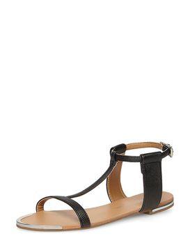 black-flat-minimal-sandals by dorothy-perkins