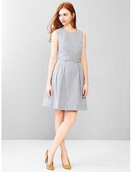 stripe-seersucker-fit-&-flare-dress by gap