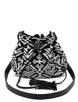 tribal-woven-tassel-bucket-bag by charlotte-russe