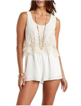 embroidered-mesh-flounce-romper by charlotte-russe