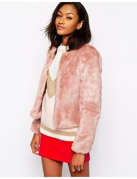 warehouse-crop-faux-fur-jacket by warehouse