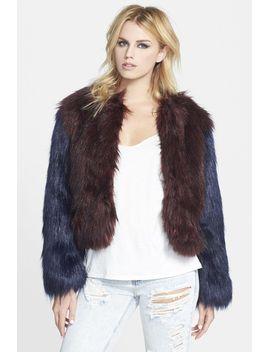 two-tone-faux-fur-jacket by glamorous