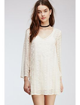 embroidered-sheer-woven-shift-dress by forever-21