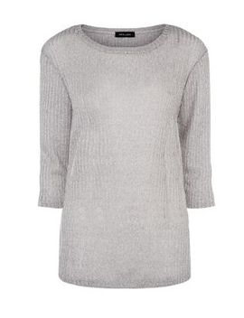 grey-ribbed-fine-knit-top by new-look