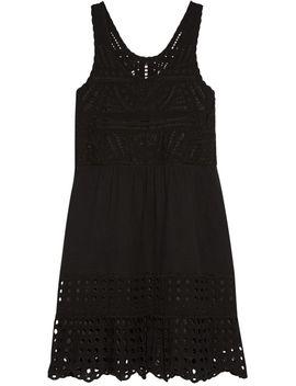 broderie-anglaise-cotton-gauze-mini-dress by sea