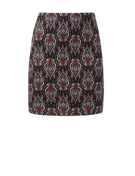 black-paisley-print-tube-skirt by new-look