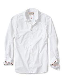 heritage-white-dobby-shirt by banana-repbulic