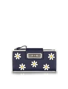 navy-applique-daisies-large-purse by floozie-by-frost-french