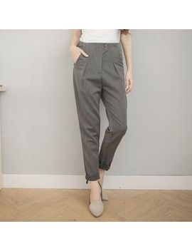 tokyo-fashion---pleated-low-crotched-pants by tokyo-fashion