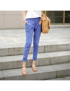 styleberry---band-waist-pleated-front-tapered-pants by brand-from-south-korea