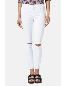 moto-leigh-distressed-skinny-jeans by topshop
