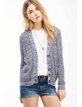 marled-drop-sleeved-cardigan by forever-21