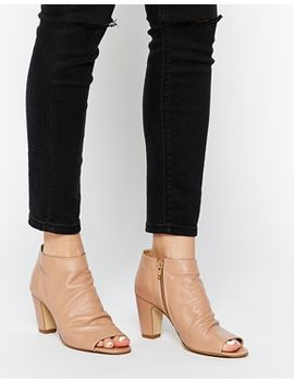 dune-nude-leather-peep-toe-shoe-boots by dune