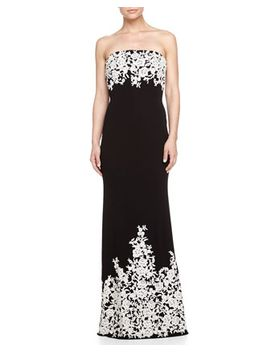 embroidered-strapless-gown,-black_white by basix-black-label
