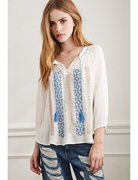 gauzy-embroidered-peasant-top by forever-21