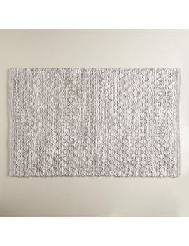 heathered-gray-and-ivory-bath-mat by world-market