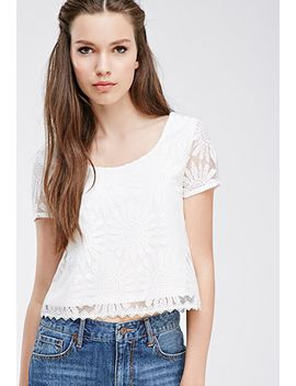 embroidered-lace-boxy-top by forever-21
