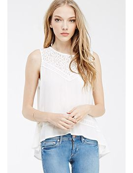lace-paneled-split-back-top by forever-21