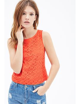 crochet-bow-patterned-top by forever-21